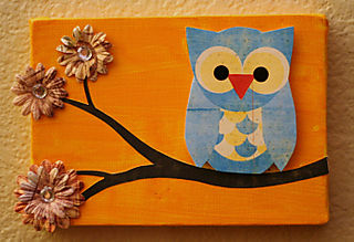 Owl canvas vintage brew 1 500