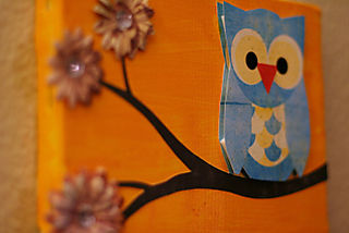 Owl canvas vintage brew 2 500